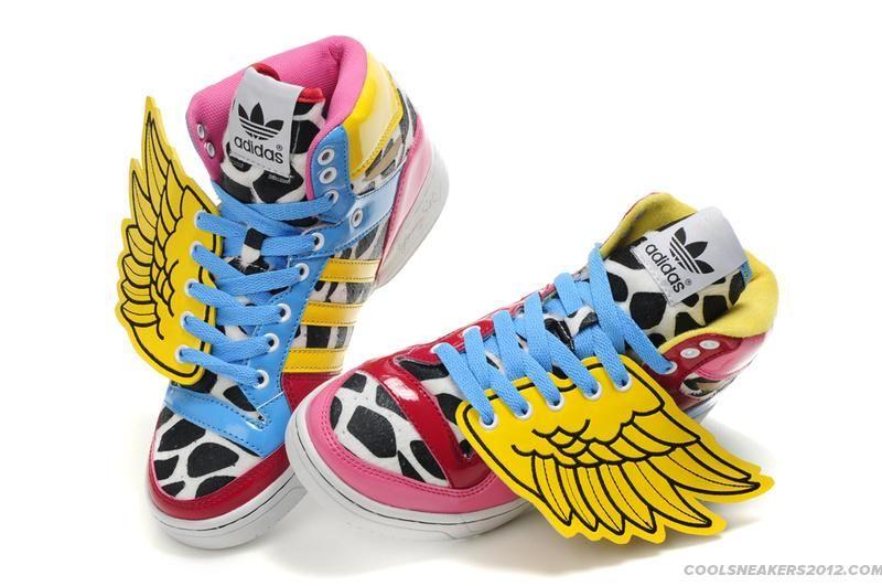 new products bab84 4f95b Jeremy-Scott-Adidas-x-2NE1-JS-Wings-Colorful-Blue-Yellow-Red-Pink
