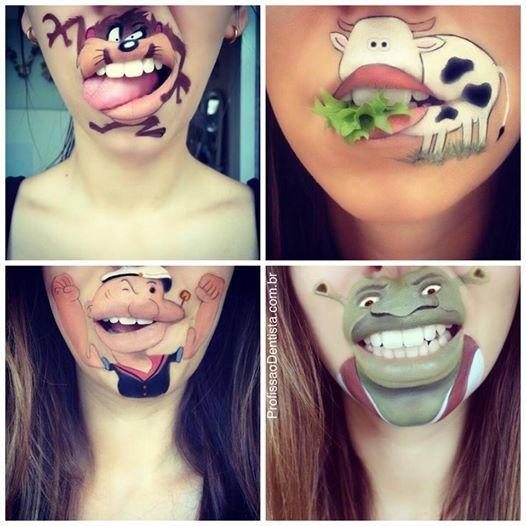 Artista de Londres faz pinturas labiais divertidas | Profissão Dentista