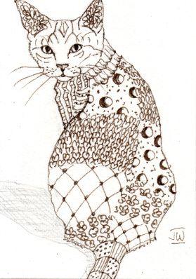 Zentangle Animals | zentangle an animal - WetCanvas | Doodling ...