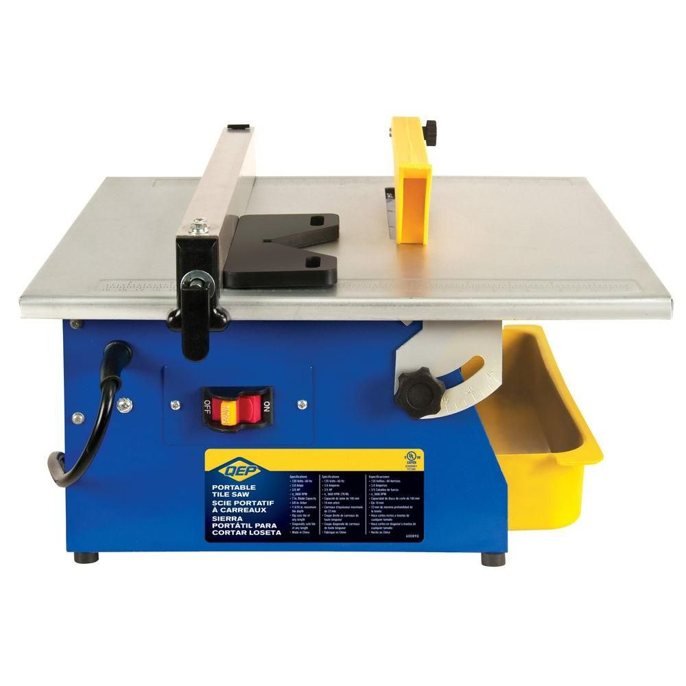 Qep Master Cut 3 5 Hp Wet Tile Saw With 7 In Diamond Blade