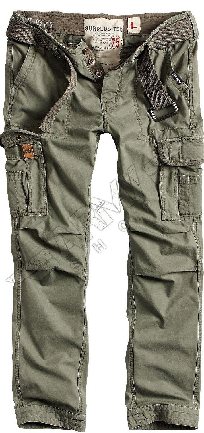 Premium Vintage Nadrag Slimmy Surplus Fekete Army Shop Admiral Army Pants Spring Outfits Men Mens Outfits