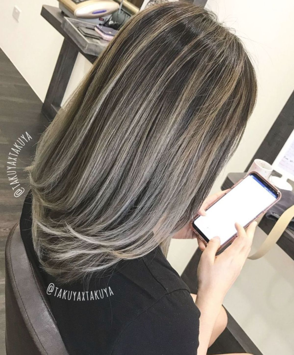 29++ Brunette hair with silver highlights inspirations