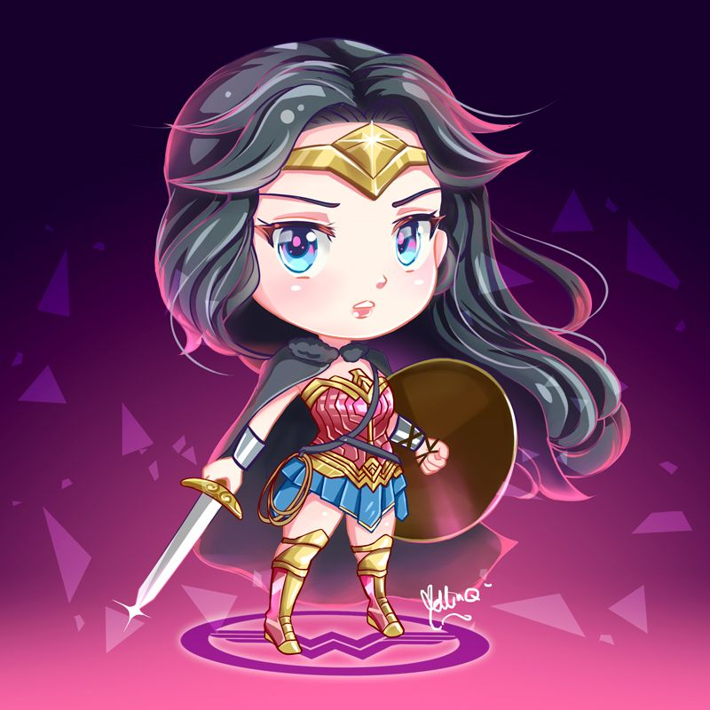 Wonder Woman Chibi by Mellin-Q.deviantart.com on ...