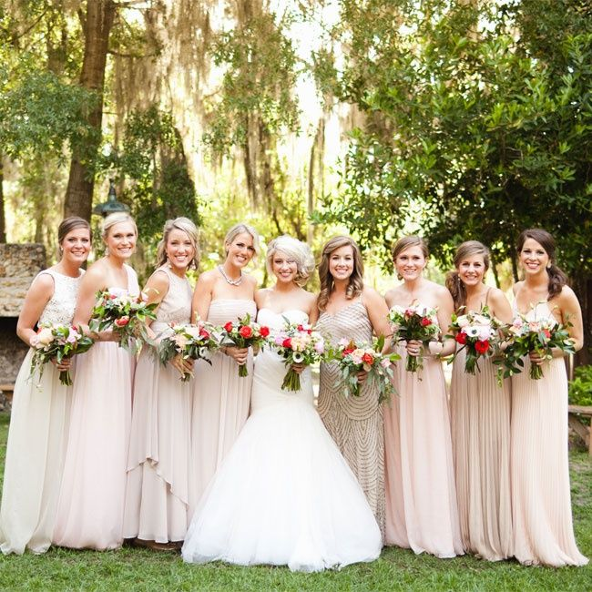 Neutral Color Bridesmaid Dresses Photo By Ben Sasso