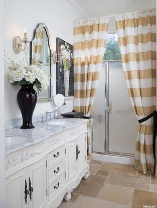 I Love The Cabinets In The Bathroom I Also Like The Curtain Idea