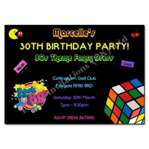 80s Retro Party Invitation 80 S Party Pinterest 80s Party