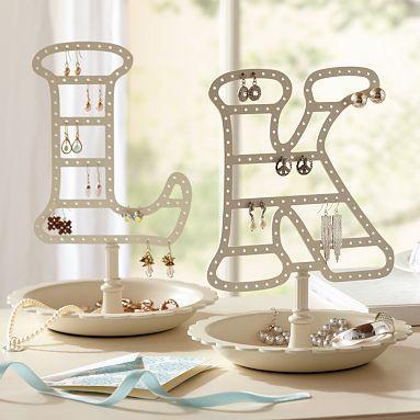 Way Cool Jewelry Tree For Post Earrings Alphabet Earring Holder Potterybarn