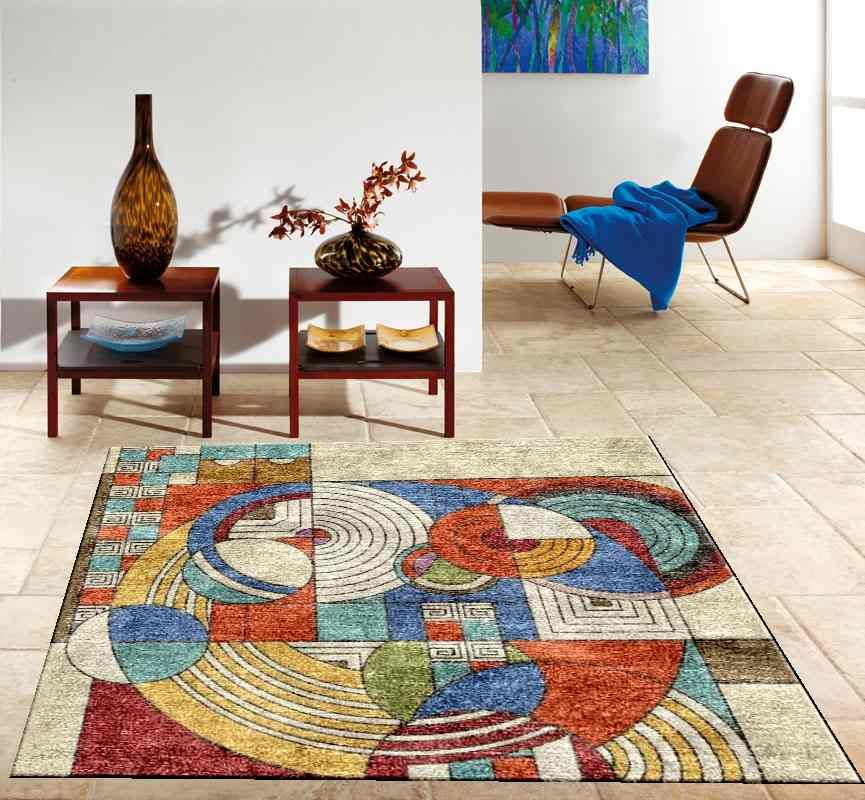 Frank Lloyd Wright Inspired Custom Rug