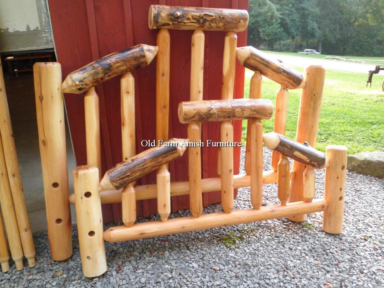 Cedar U0026 Aspen Log Rustic Beds Old Farm Amish Furniture   Dayton, PA (814