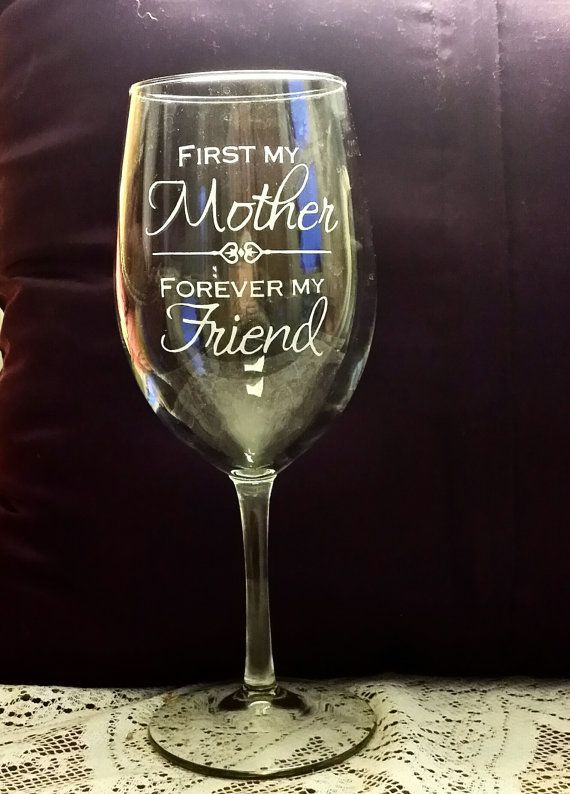 etched mothers day wine glass with beautiful by - Etched Wine Glasses