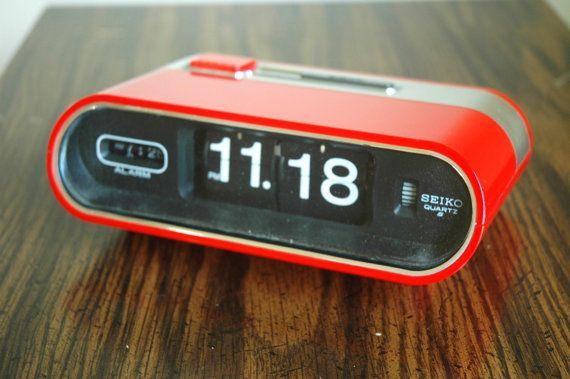 Seiko Flip Clock Mod Red And Chrome Seiko Alarm Clock Etsy Clock Flip Clock Alarm Clock