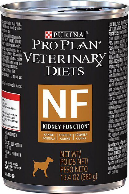 Purina Pro Plan Veterinary Diets Nf Kidney Function Formula Canned Dog Food 13 3 Oz Case Of 12 Chewy Com Canned Dog Food Purina Pro Plan Prescription Dog Food
