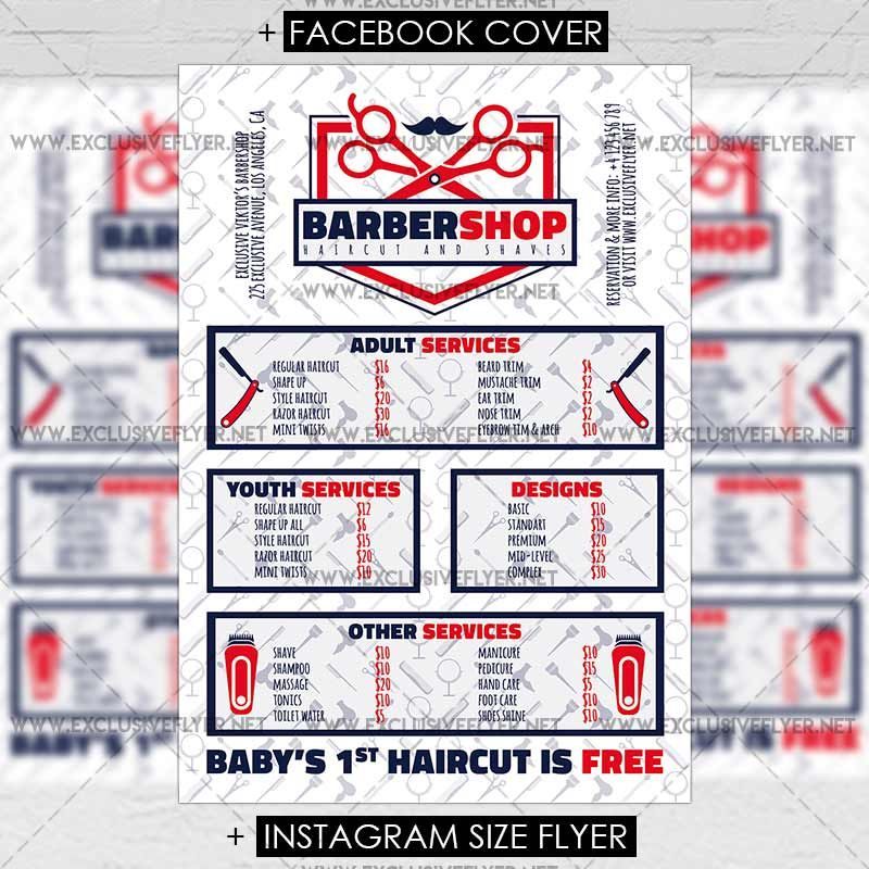 Exclusive Barbershop - Premium Flyer Template https\/\/www - free product flyer templates