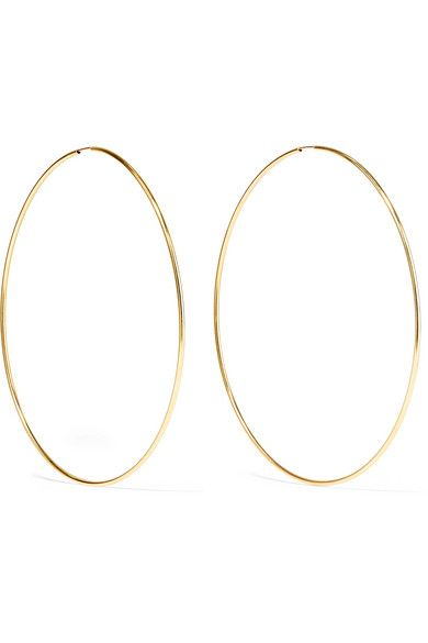 Infinity 10 Karat Gold Hoop Earrings With Images Gold Hoop Earrings Hoop Earrings Gold Hoops