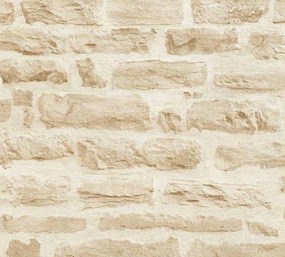 vliestapete stein-optik steinwand creme beige 35580-2