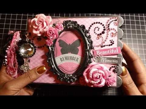 Beautiful Memories Chipboard Mini Album - YouTube