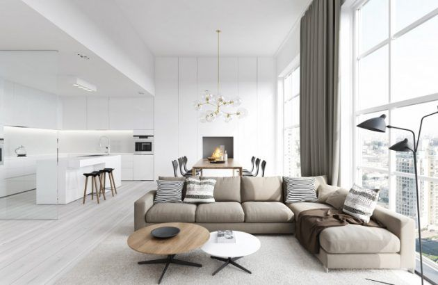 18 Fascinating Living Room Designs With Modern Round Coffee Table Modern Living Room Interior Living Room Design Modern Minimalist Living Room