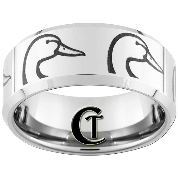 10mm beveled tungsten carbide band duck ring design sizes 5 17 free shipping