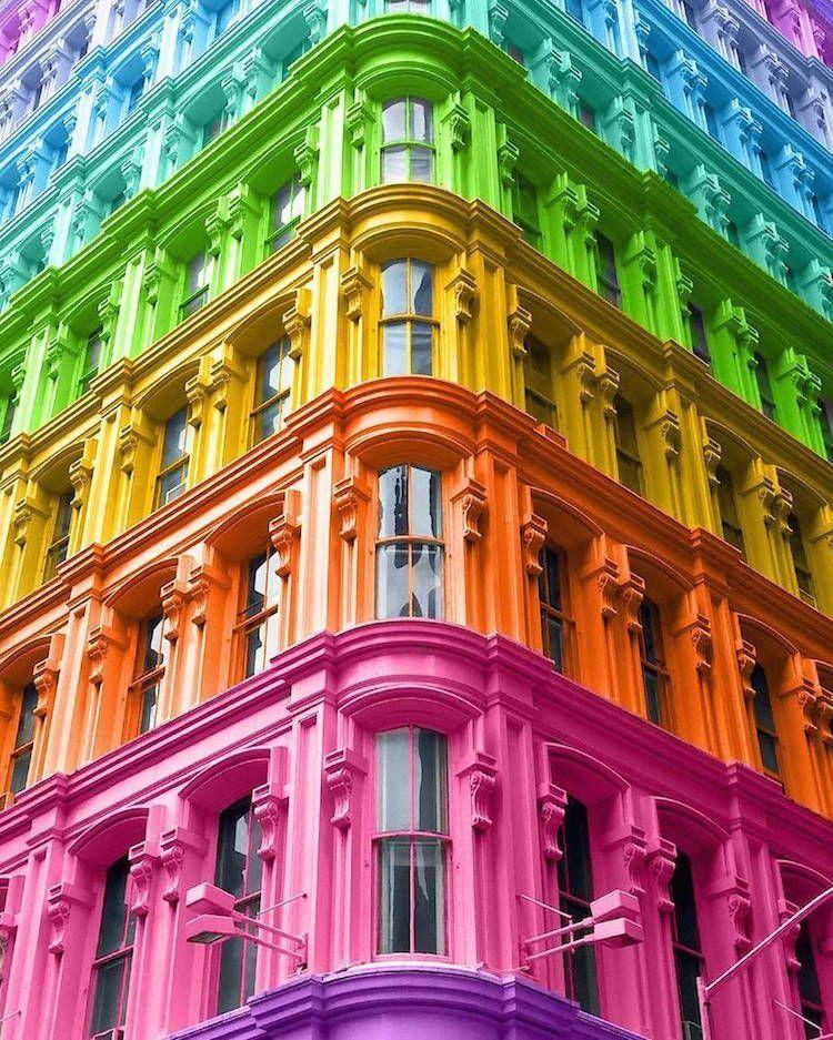 Graphic Designer Reimagines Iconic Buildings with Kaleidoscopic Colors