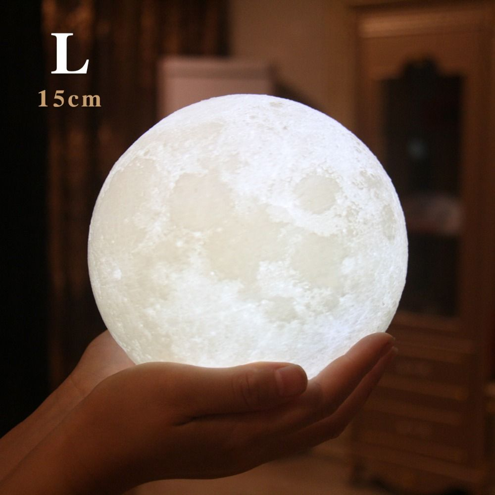 3d Print Moon Lamp Charging Moon Night Light Moon Luna Private Custom Gift Bedroom Night Light Night Light 3d Night Light
