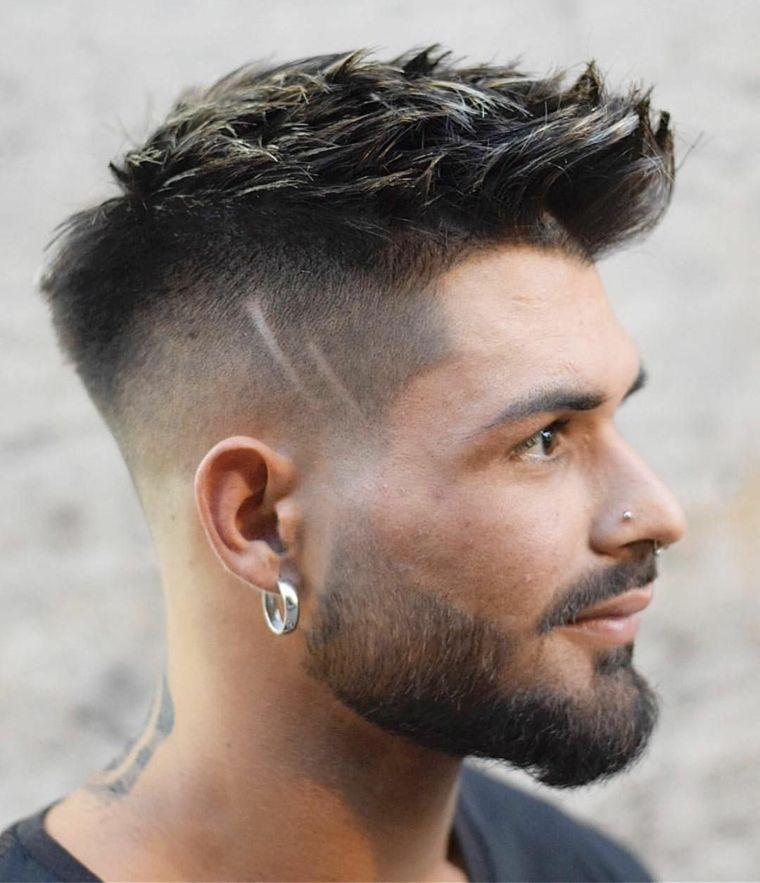 Cabelo E Barba Degrades 2019 Cabelo Masculino Estilos De Barba Curta Barba Cabelo E Bigode