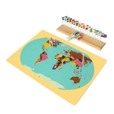 Possible diy montessori world map flags and stand toys games montessori world map flags and stand toys games gumiabroncs Images