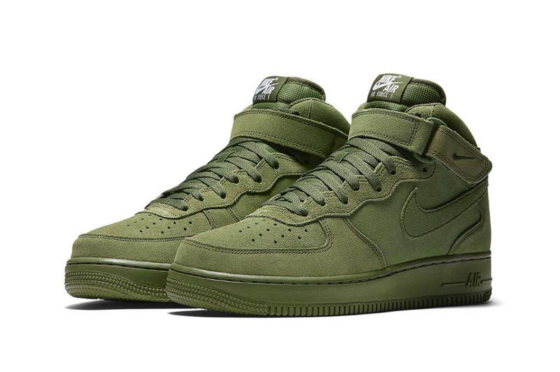 b2d1c14ab4f6e3 Nike Air Force 1 mid in Olive.   wishlist   Nike air force, Air ...