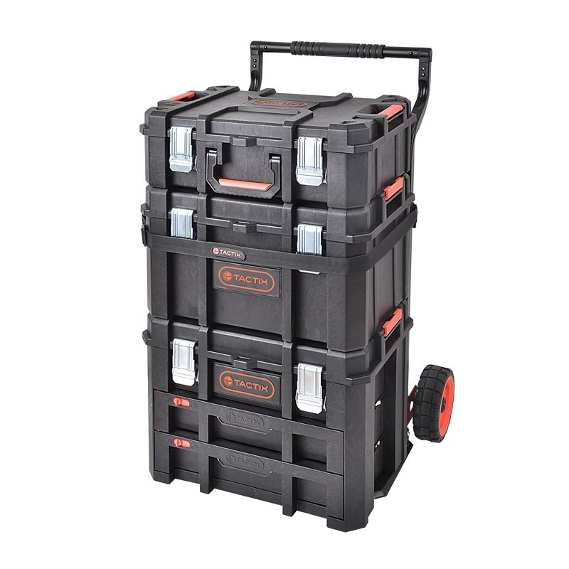 Nice Find Tactix 4 Piece Heavy Duty Modular Tool Storage Set At Bunnings  Warehouseu2026