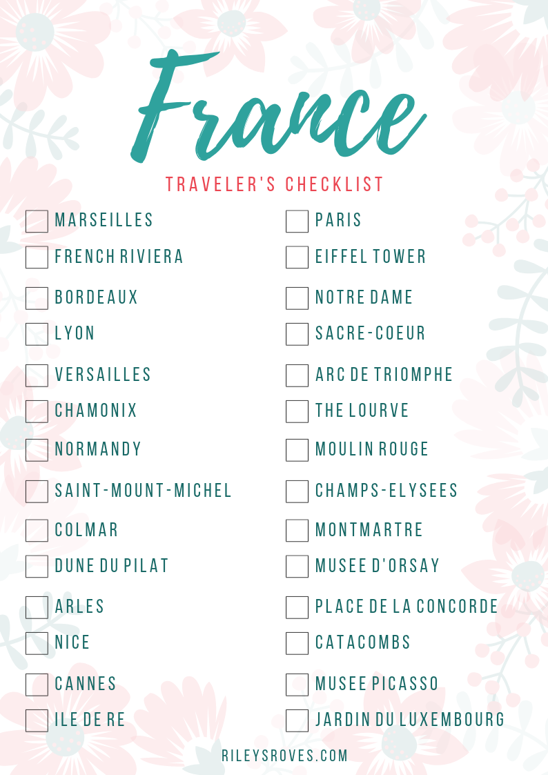 France Checklist   Things to Do in France   France Attractions   Visit France   France Bucket List   Riley's Roves