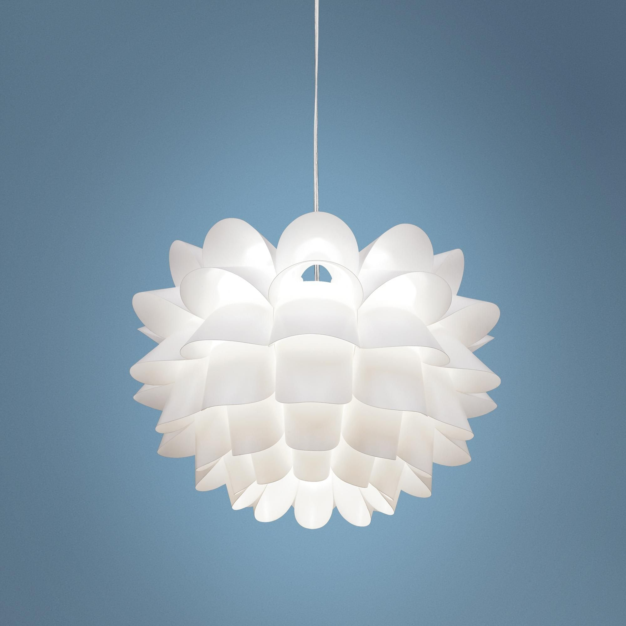 Possini euro white flower 19 12 wide pendant chandelier style possini euro white flower 19 12 wide pendant chandelier from lampsplus i think this would be awesome over our breakfast table and you can see it mightylinksfo