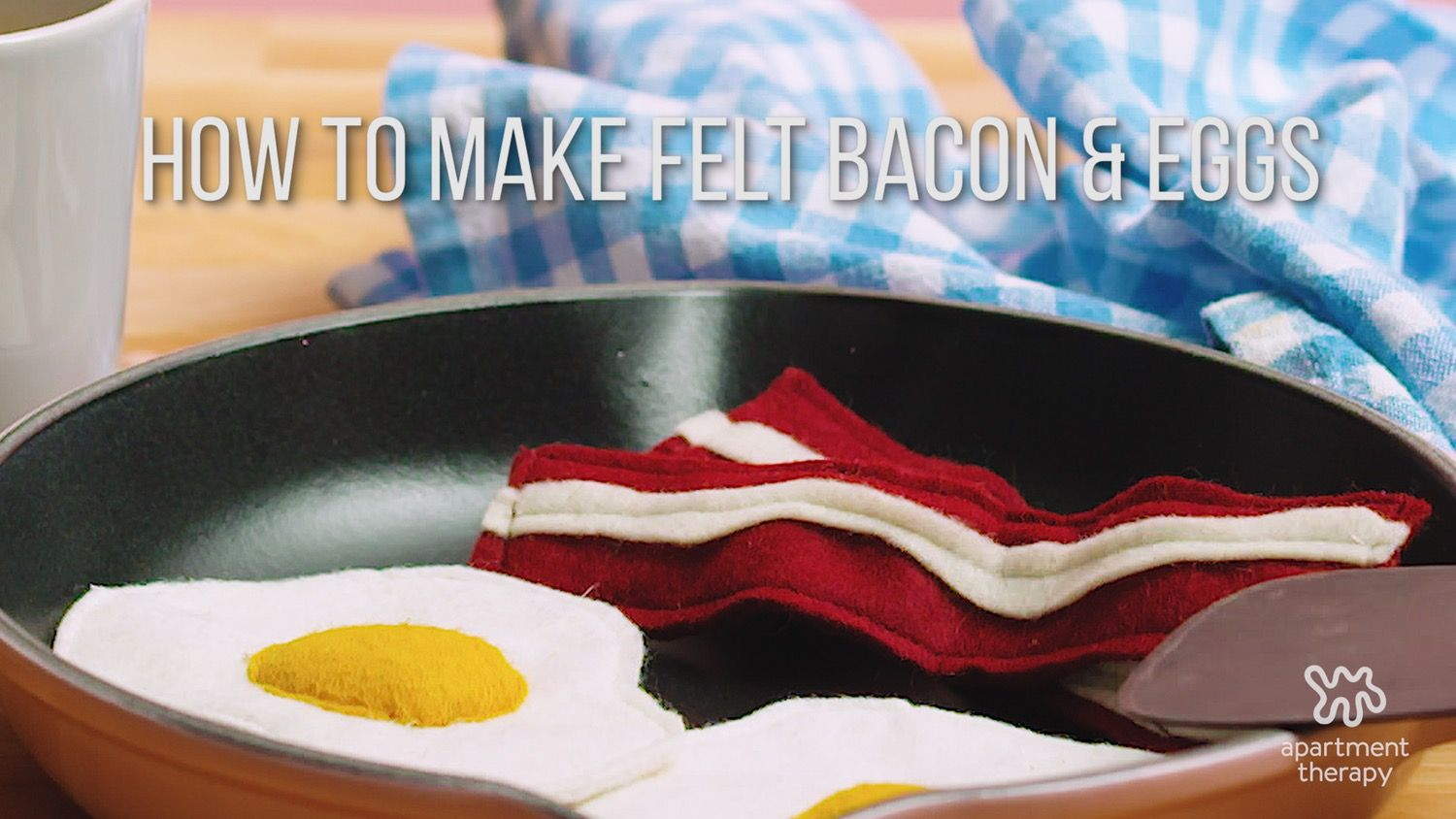 Order Up! Bacon & Eggs Are On the Menu With This Crafty Project — Video for Apartment Therapy