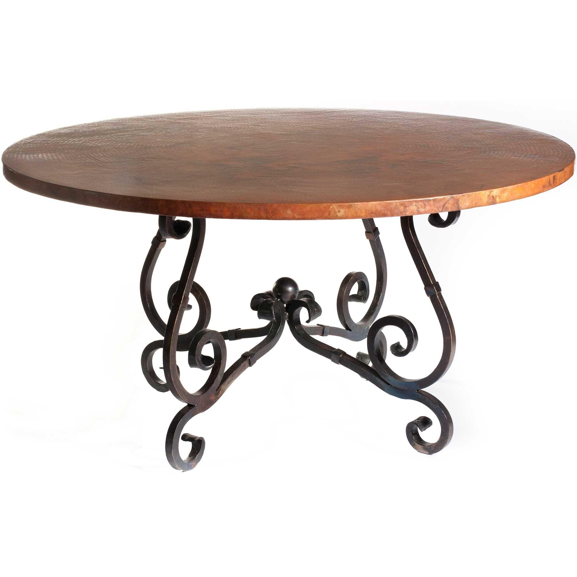 Round hammered copper coffee table coffee tables pinterest round hammered copper coffee table geotapseo Gallery