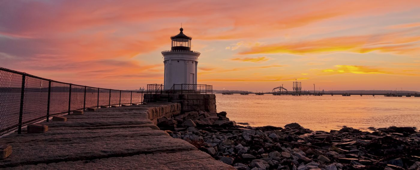 Explore Portland Breakwater also known as Bug Light Park