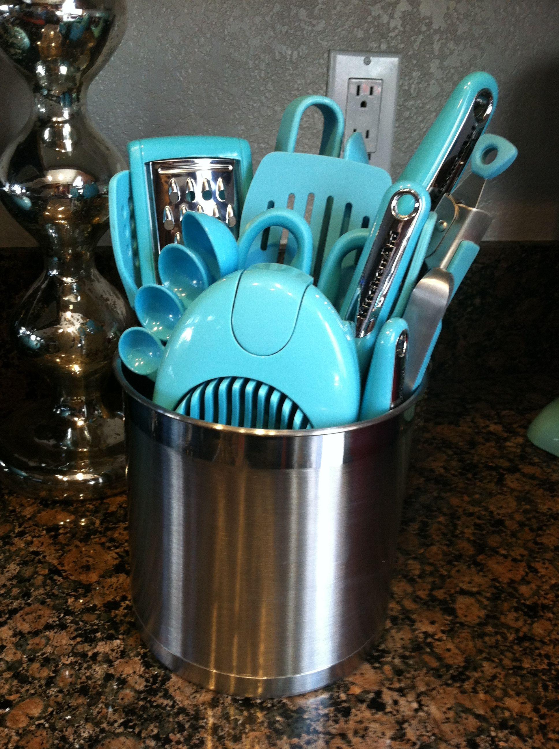 #KitchenAid #aqua Utensils I Have This Whole Set :)