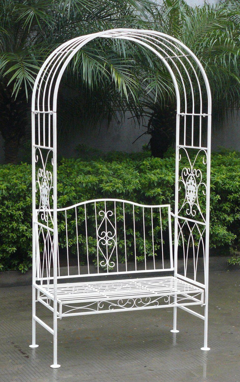 Arche De Jardin Avec Banc 2 Places Style Vintage Fer Forgé