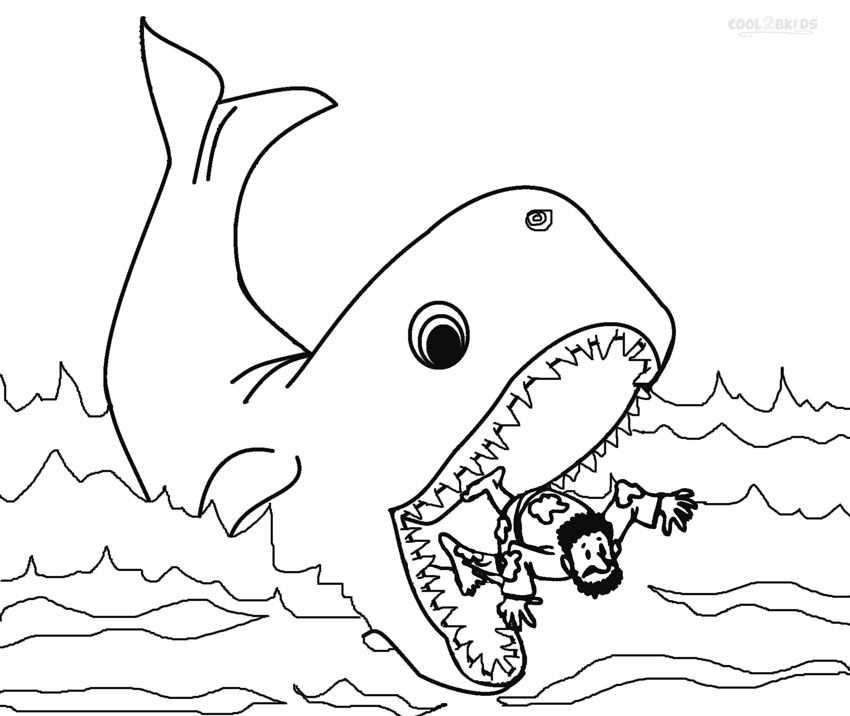 Printable Jonah and the Whale Coloring Pages For Kids | Cool2bKids ...