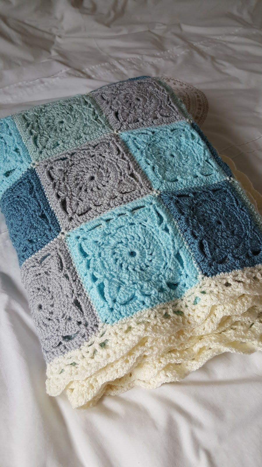 Gender Neutral Crochet Baby Blanket Roundup Completed Squares