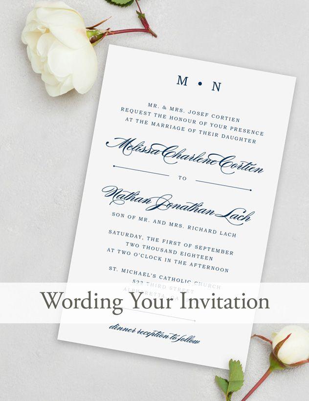 Wedding Invitation Wording Invitation wording Wedding and Weddings