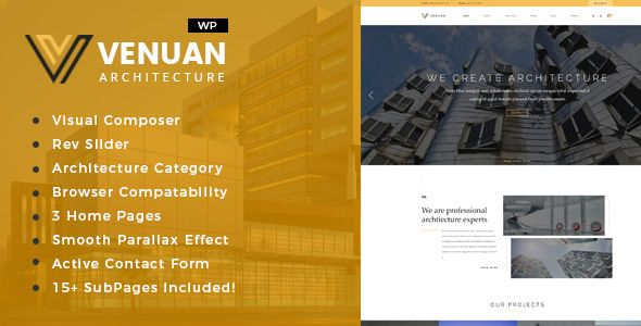 Venuan   Architecture Design WordPress Theme By Template_path  OverviewVenuan Specially Made For Interior Design Services,