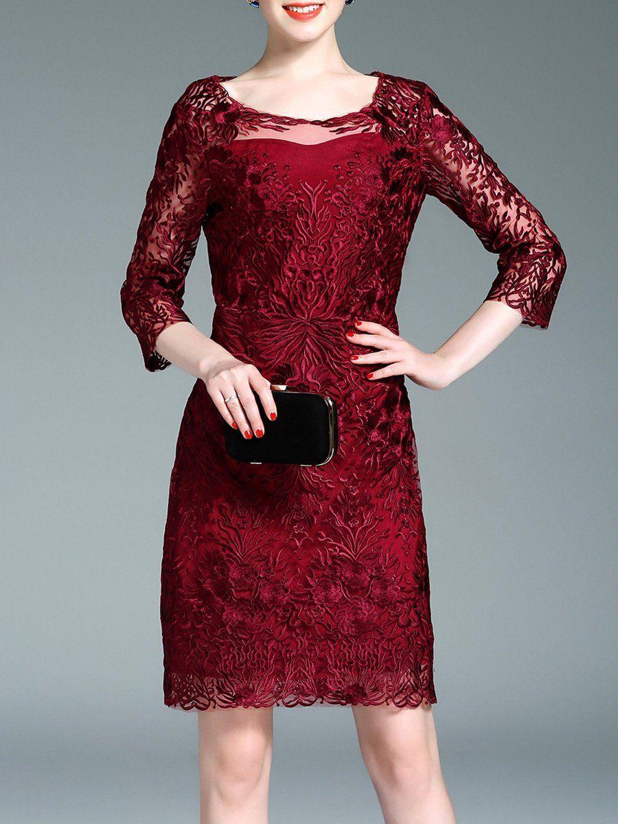 Adorewe stylewe designer mini dresses designer qeexi sleeve