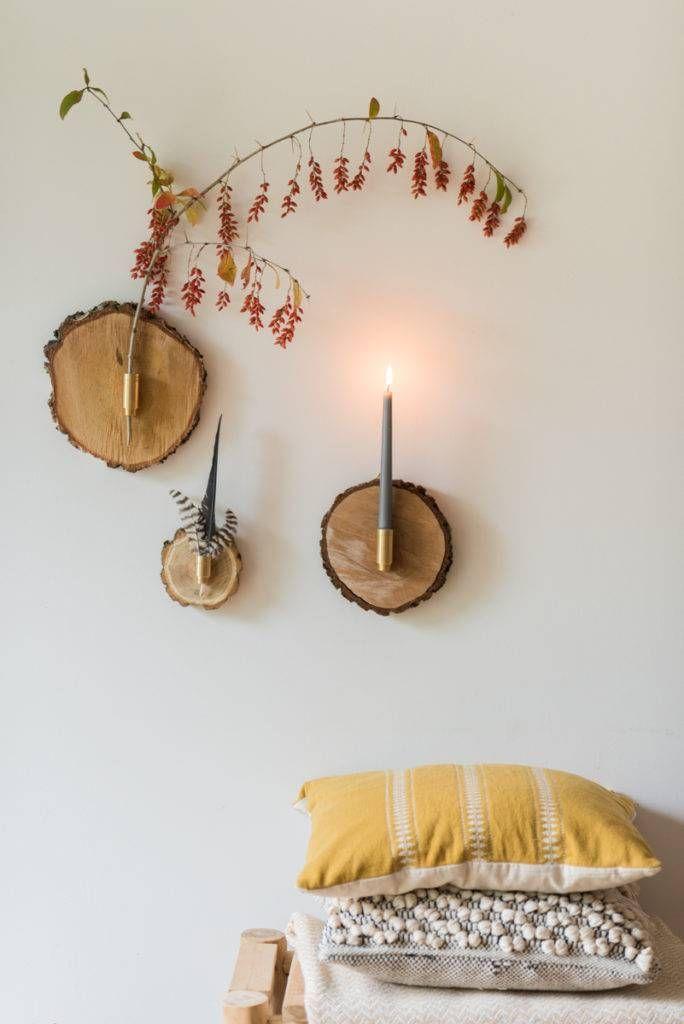 DIY - herbstliche Wanddeko aus Baumscheiben - Leelah Loves