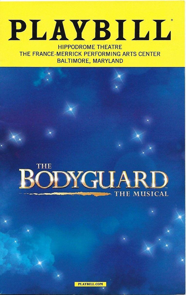 The Bodyguard March 2017 Broadway playbills, Broadway