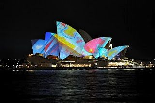 sydney lights up.