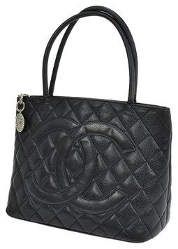 6fff93da4165dc Chanel Medallion Quilted Cc Hand Caviar Skin Leather Black Tote Bag. Get  one of the hottest styles of the season! The Chanel Medallion Quilted Cc  Hand ...