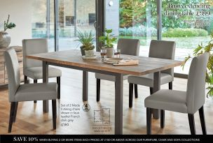 Buy Bronx 68 Seater Extending Dining Table from the Next