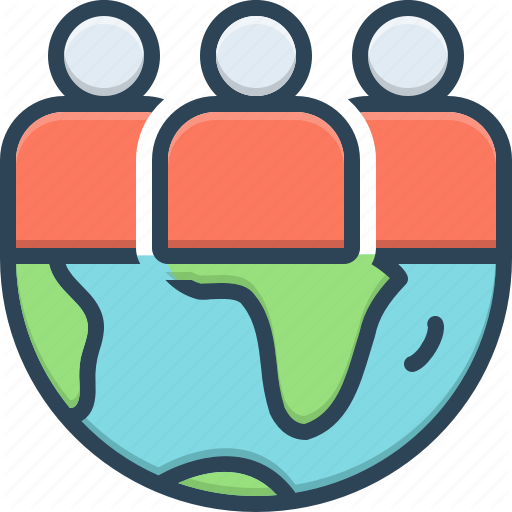 Crowd Gang Group Organization Team Tribe World Icon Download On Iconfinder World Icon Icon Vector Pattern