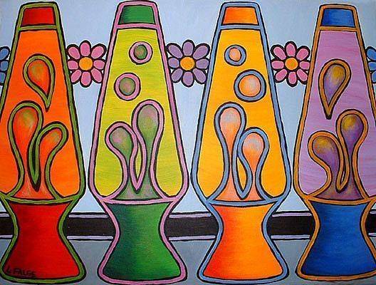 Lava Lamps By Lindi Levison From Pop Art Gallery Hippie Painting Art Collage Wall 60s Art