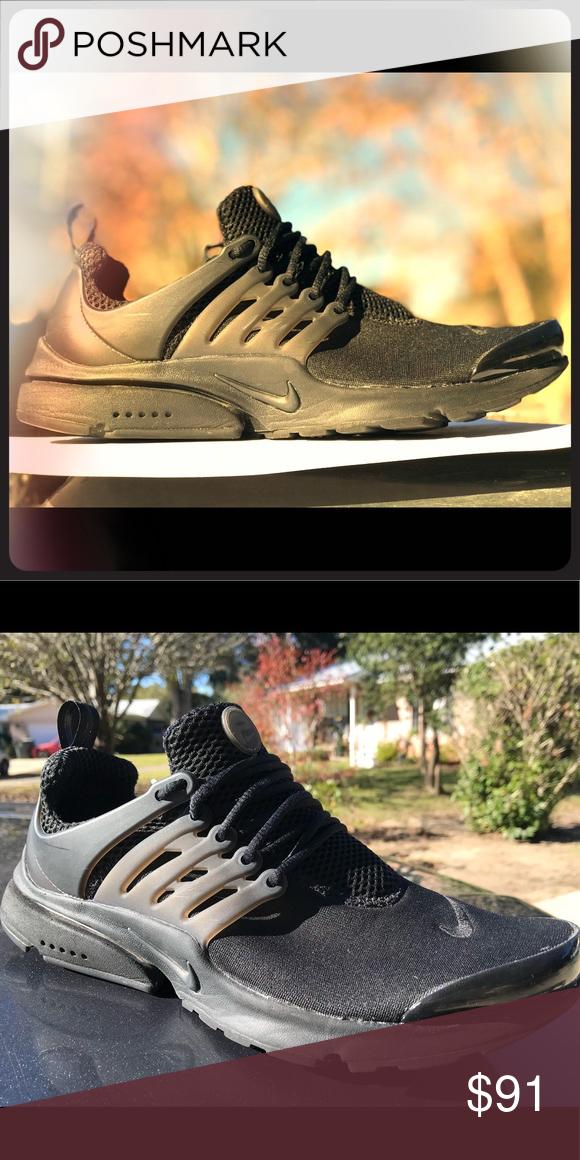 67acebea540e Triple Black Nike Presto s Gently worn with no damage. Nike Shoes Athletic  Shoes