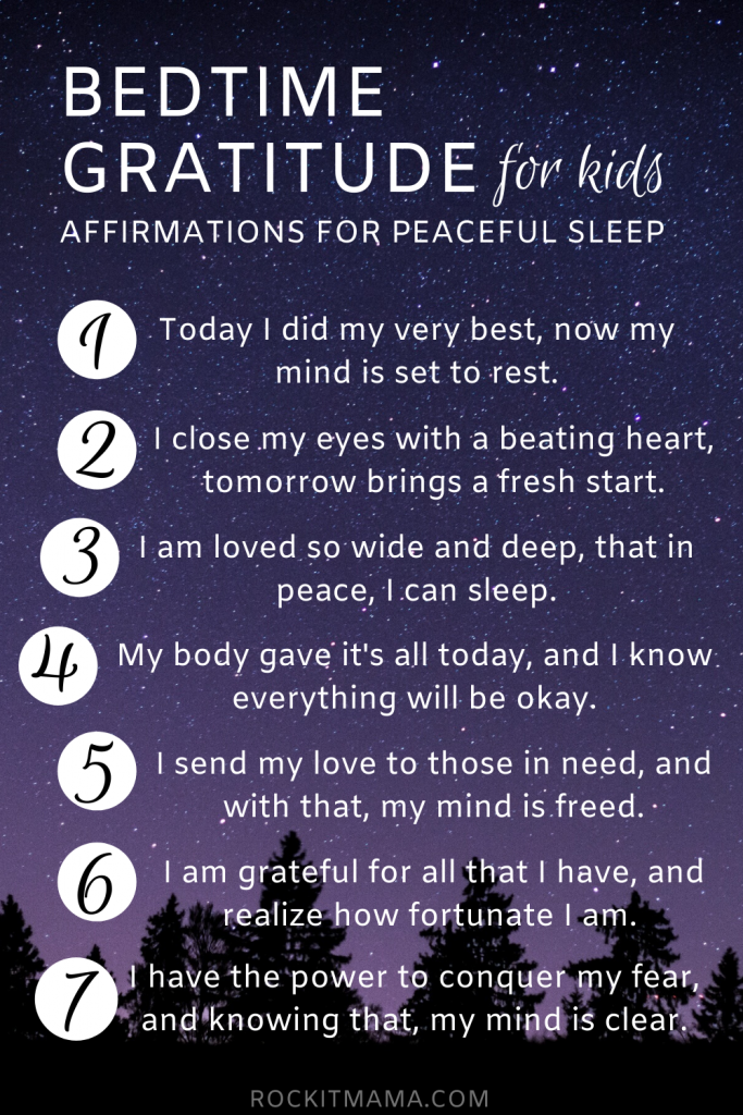 Bedtime Affirmations - for Kids! - Rock it Mama