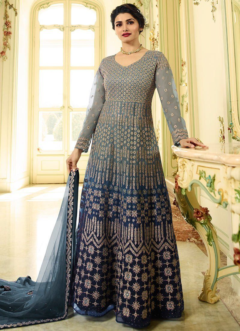 9c0501ca0c Buy Blue Prachi Desai Net Designer Anarkali Suit Online - Best Quality– Liinara